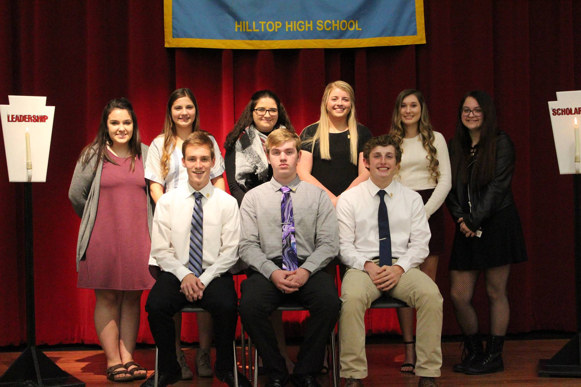 New national honor society members