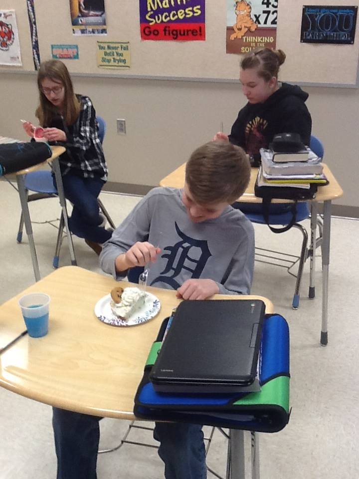 Pie Day in Mr. Brown's Class