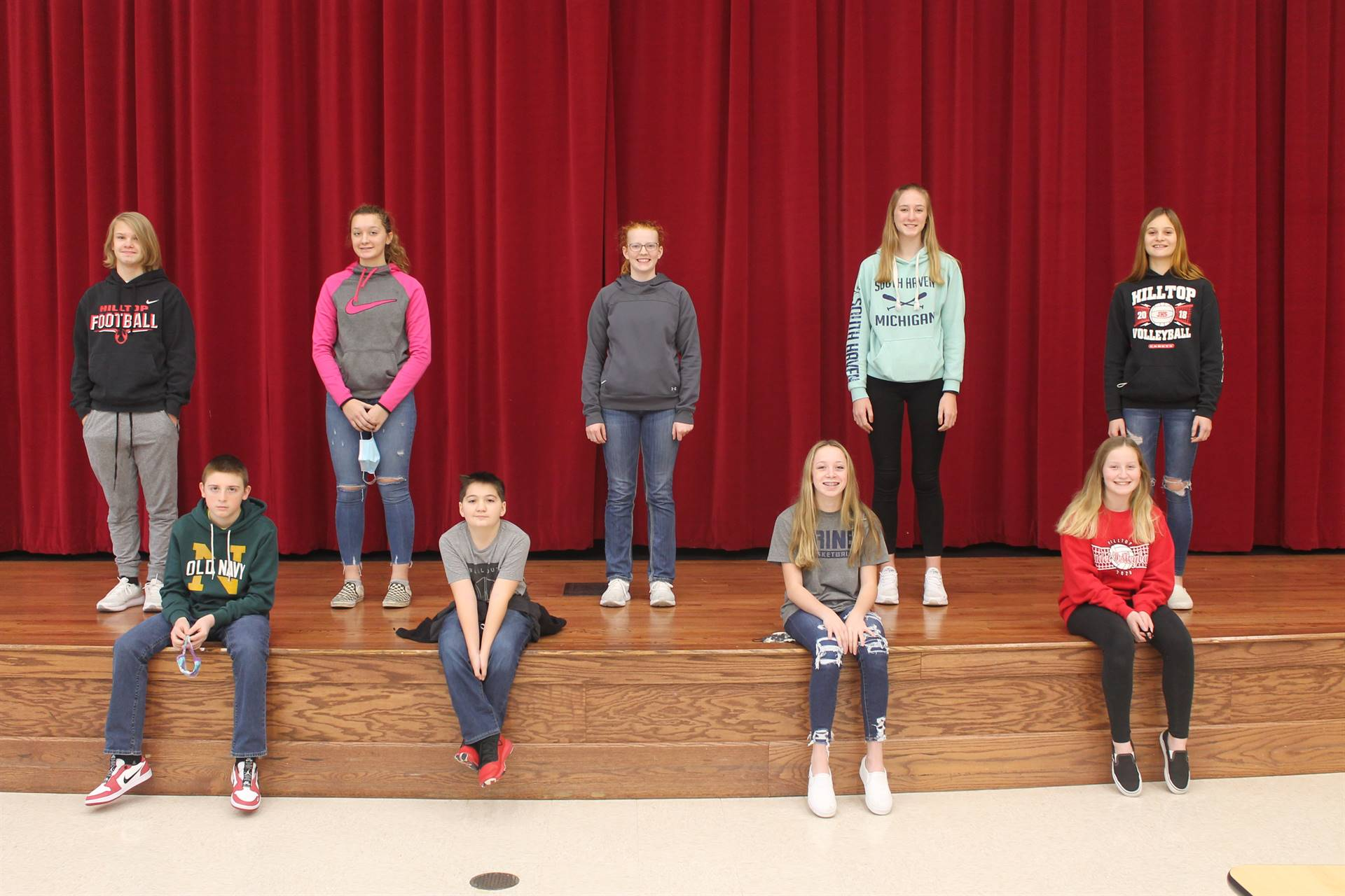 JH Students of the Month for November