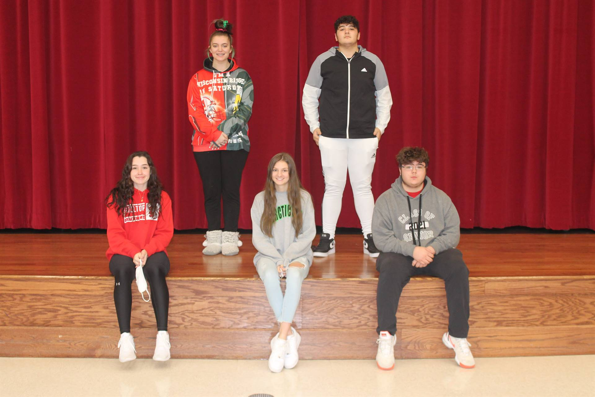 Junior and Senior students of the month for November