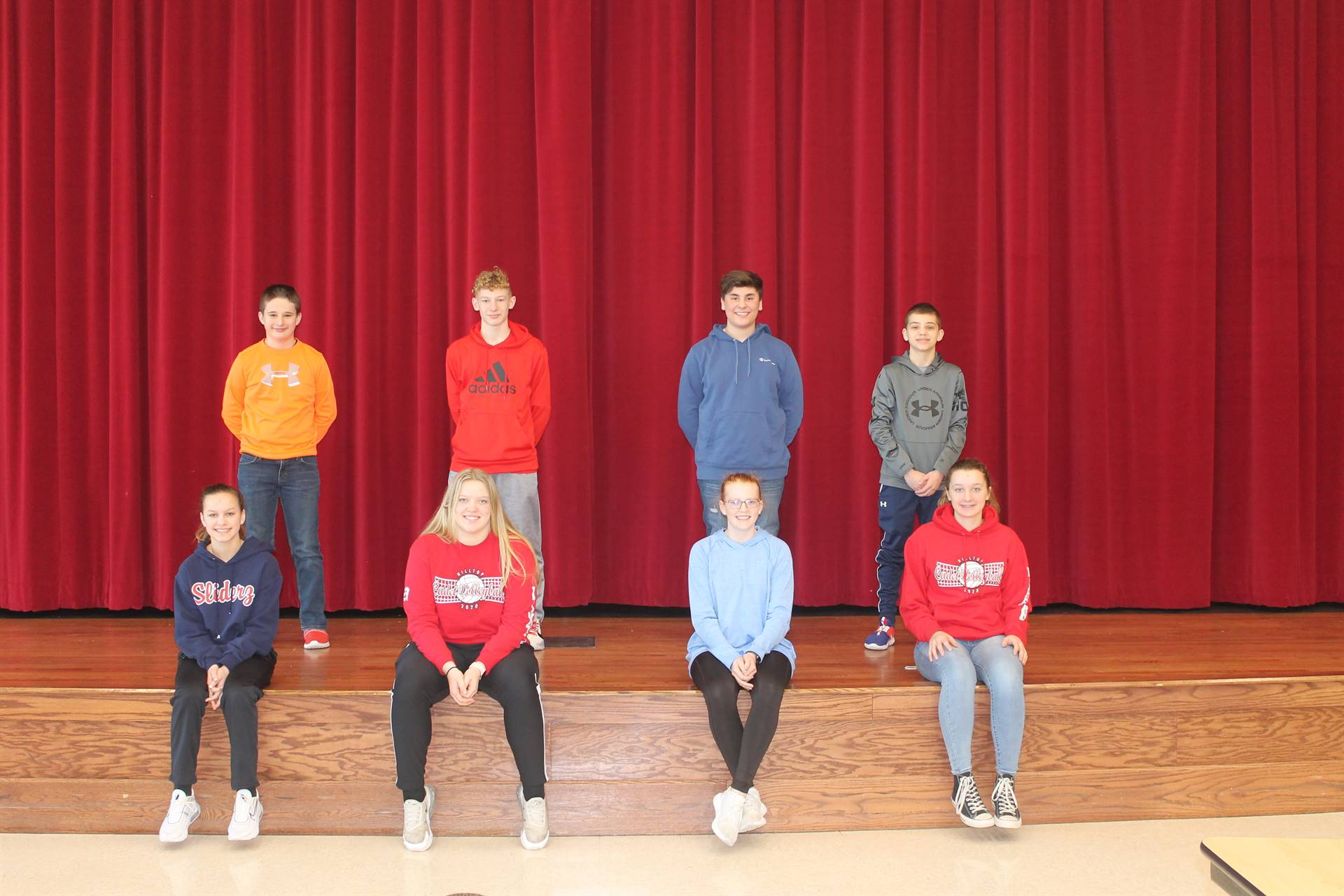 Junior High Students of the Month for January