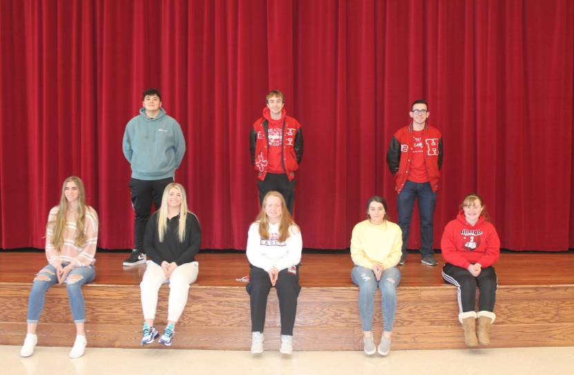 Junior and Senior Students of the Month for January