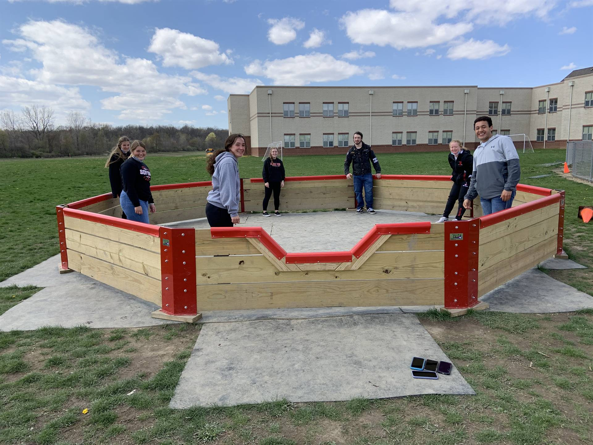 """Junior and Seniors in Physics and Human Anatomy & Physiology Class get some """"recess time""""."""